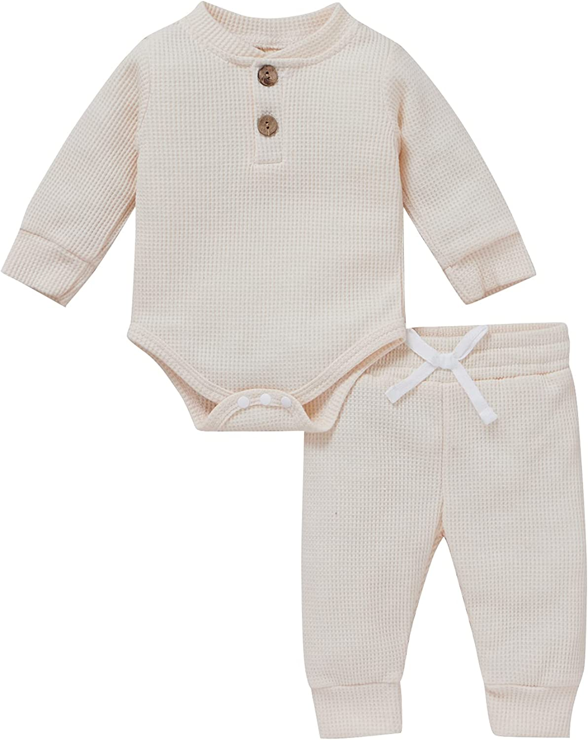 Infant Newborn Baby Boy Girl Clothes Cotton Long Sleeve Jumpsuits+Long Pants Fall Winter Solid Outfits Set
