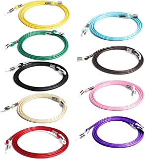Aabellay 9 STKS Brillen Strap Ketting Wax Touw Gevlochten Bril Retainer Sport Eyewear Cord Lanyard Zonnebril String Touw H...