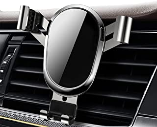 Mobile phone holder Car Air Vent Mount Cell Phone Holder Gravity, Silver