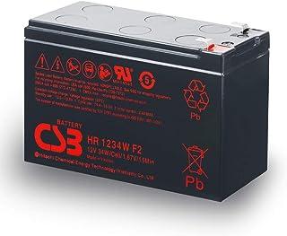 Hitachi CSB 12V 9Ah High Rate 34W HR1234W Sealed Lead Acid AGM UPS Battery for Telstra NBN Broadband APC MGN Eaton >7ah >7...