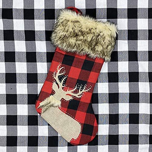 langchao Calze di Tela da imballaggio con Decorazioni Natalizie di Capodanno Calze da Regalo Grandi con Pupazzo di Neve di Babbo Natale