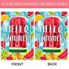 Morigins Hello Summer Popsicles and Ice Cream Double Sided Watermelon Pineapple Kiwi Fruit House Flag 28x40 inch #3