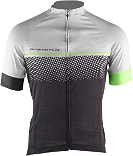 Vbestlife Men's Short Sleeve Cycling Jersey Mesh Fabric Quick Dry Bike Shirt Road Bicycle Mountain Bike Breathable Comfortable Tight Jacket Sports Clothing