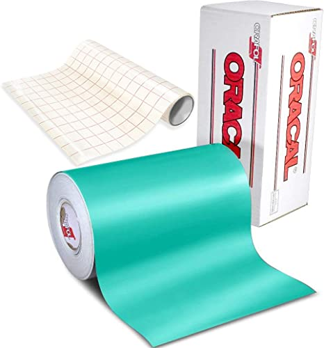 Amazon Com Oracal 651 Gloss Craft Adhesive Vinyl 12 X 30 Multi Color Roll Bundle For Silhouette Cricut Die Cutting Machines Including 12 X 30 Roll Of Clear Transfer Paper 1 Roll Turquoise Kitchen