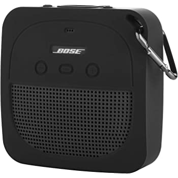 TXEsign Silicone Case for Bose SoundLink Micro Bluetooth Speaker, Soft Travel Carrying Case Protective Cover with Metal Hook for Bose SoundLink Micro Case (Dark Gray)