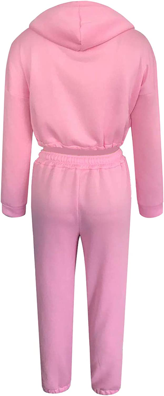 Damen Sportanzug Jogginganzug Schlafanzug 2-in-1 Hausanzug Casual Sets 2PCS Kapuzenpullover Outfits Langarmshirt und Jogginghose Sweatshirt Lounge Wear Set