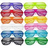 Comius 12 Pack Partybrille, Mode Shutter Shades Brille Gläser Sonnenbrille für Kostüm Party Club...