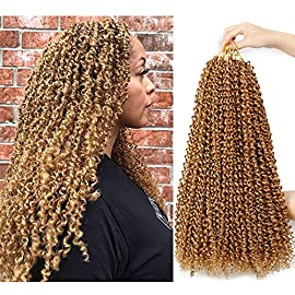 Ubeleco Passion Twist Hair 18 Inch 6 Packs/Lot Water Wave Crochet Hair Passion Twists Long Bohemian Hair Passion Twist…