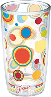 Tervis Fiesta - Poppy Dots Insulated Tumbler With Wrap, 16 oz, Clear - 1141649