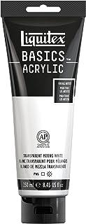 Liquitex 4385430 BASICS Acrylic Paint, 8.45-oz tube, Transparent Mixing White