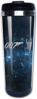 HINVIREG Stainless Steel James Bond 007 Logo Platinum Style Tumbler Coffee Mug