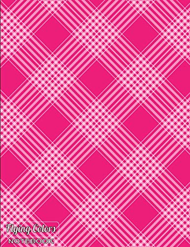 Flying Colors Notebook: Abstract Art Decorative Notebook Collection Plaid on Pink Design, Journal/Diary, Wide Ruled, 100 Pages, 8.5 x 11 (Abstract Art) (Flying Colors Decorative Notebook, Band 11)