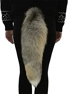 Sheicon Golden Island Fox Fur Tail Fluffy Big Dress Up Tail For Cosplay 20