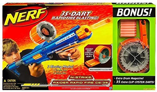 Hasbro Nerf N-Strike Raider Rapid Fire CS-35 Blaster Special Value Pack