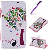EMAXELERS Funda LG Nexus 5X Carcasas para LG Nexus 5X Premium PU Cuero Cartera para Tarjetas y Cierre Magnetico Soporte Plegable Funda Protectora para LG Nexus 5X Colorful Wishing Tree
