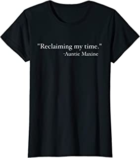 Womens Maxine Waters Reclaiming My Time Funny Political Tshirt