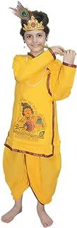 Krishna in Cotton fancy dress for kids,Krishnaleela/Janmashtami/Kanha/Mythological Character for Annual function