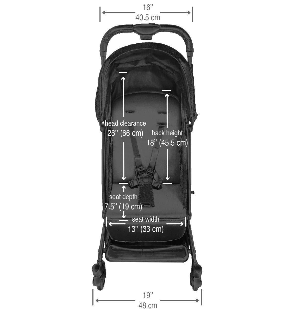guzzie+Guss Oxygen Stroller (2020 Edition), GG030SP20, Salt & Pepper