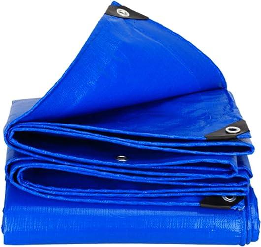 WDXJ Bache Double Robuste et imperméable Double Face pour Tapis de Pique-Nique pour Meubles de Jardin, pêche, Camping-Bleu, 180G   M2 (Taille   6  6m)