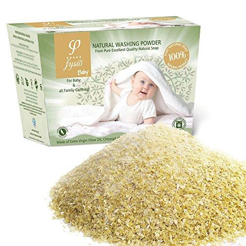 Waschpulver für Babykleidung/Neugeborene und Empfindliche Haut mit Olivenseife, für Waschmaschinen und Handwäsche | 600gr
