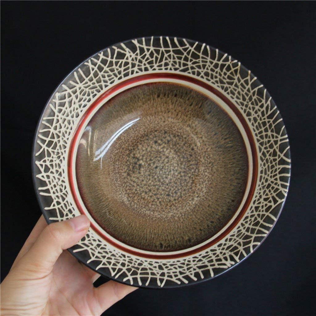 QTQHOME Retro Hand-Painted Kitchen Restaurant Tableware Western