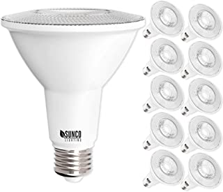 Sunco Lighting 10 Pack PAR30 LED Bulb, 11W=75W, Dimmable, 2700K Soft White, 850 LM, E26 Base, Flood Light, Indoor/Outdoor - UL & Energy Star