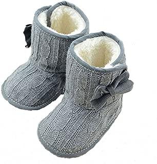 Little Baby Fleece Fur Knit Snow Boots Infant Warm Winter for 0-18 Months