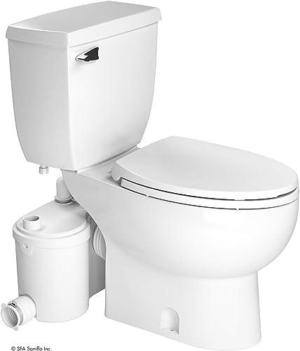 Saniflo Sanibest Pro: Macerating Upflush Toilet Kit (with Elongated Bowl)