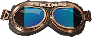 TYSKL Retro Motorcycle Goggles Fog-proof Warm Goggles ATV Bike Motocross Glasses UV Protection (color)