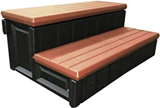 Confer Plastics Spa Stairs Redwood