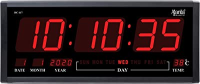 Ajanta Digital Wall Clock for Home Large Size (20 x 8.3 x 2.3 Inch)