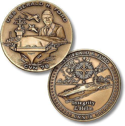 tiendas minoristas USS Gerald R. Ford, CVN-78 Challenge Challenge Challenge Coin by Northwest Territorial Mint  cómodamente