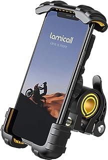 Lamicall Fiets telefoonhouder, Motorfiets telefoon monteren - verstelbare motorfiets telefoonhouder voor iPhone 12 Mini, 1...
