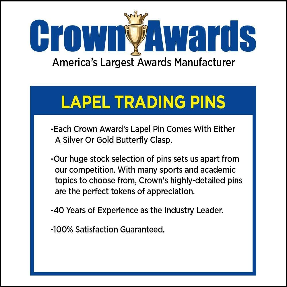 Crown Awards 1.3 Ive Been Vaccinated Black Fill Insert Pin Prime