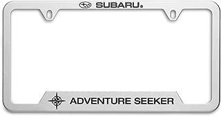 OEM Genuine Subaru Adventure Seeker License Plate Frame SOA342L164 Stainless Steel