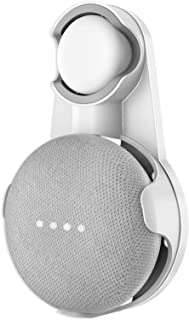 Cozycase Soporte para Google Nest Mini, Google Home Mini, gestión de Cables incorporada sin Tornillos (Blanco + Gris)