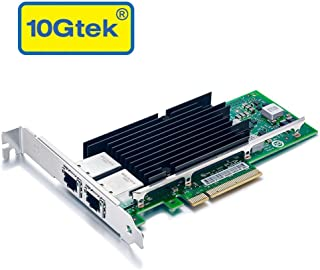 10Gb PCI-E NIC Network Card, for X540-T2 with Intel X540 Chip, Dual Copper RJ45 Port, PCI Express Ethernet LAN Adapter Support Windows Server/Windows/Linux/ESX