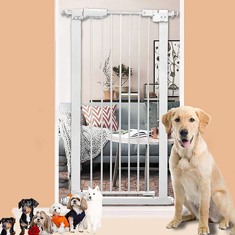 Indoor Safety Gates Extra Wide Tall Baby Gate Pressure Mounted for Stairs Hallway Doorway White Easy Open 61-159cm Wide (Size : 77-87cm)