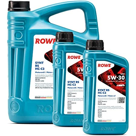 7 5l 2l Liter Rowe Hightec Synt Rs Sae 5w 30 Hc C2 Motoröl Made In Germany Auto