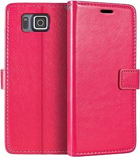 جراب محفظة Samsung Galaxy Alpha G850F، جراب قلاب مغناطيسي من الجلد الصناعي الممتاز مع حامل بطاقة ومسند لهاتف Samsung Galax...