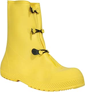 "Servus SuperFit 12"" PVC Dual Compound Men's Overboots, Yellow (11926-Bagged)"