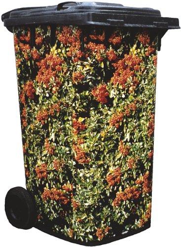 Leisure Traders Poubelle sur roues Sticker Camouflage Housse esthétique Pyracantha à fruits