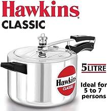 Hawkins 5.0 Litre Classic Aluminum Pressure Cooker, 5 L, Silver