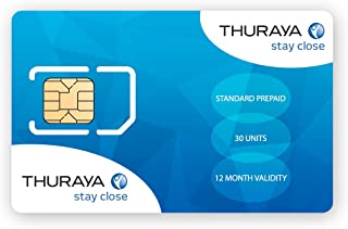 Thuraya Satellite Phone Standard SIM Card with 30 Units
