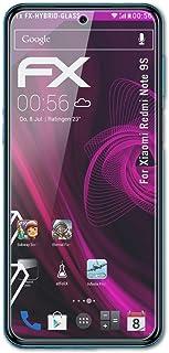 atFoliX Plastglasskyddsfilm är kompatibel med Xiaomi Redmi Note 9S / Redmi Note 9 Pro Glasskydd, 9H hybridglas FX Skyddsgl...