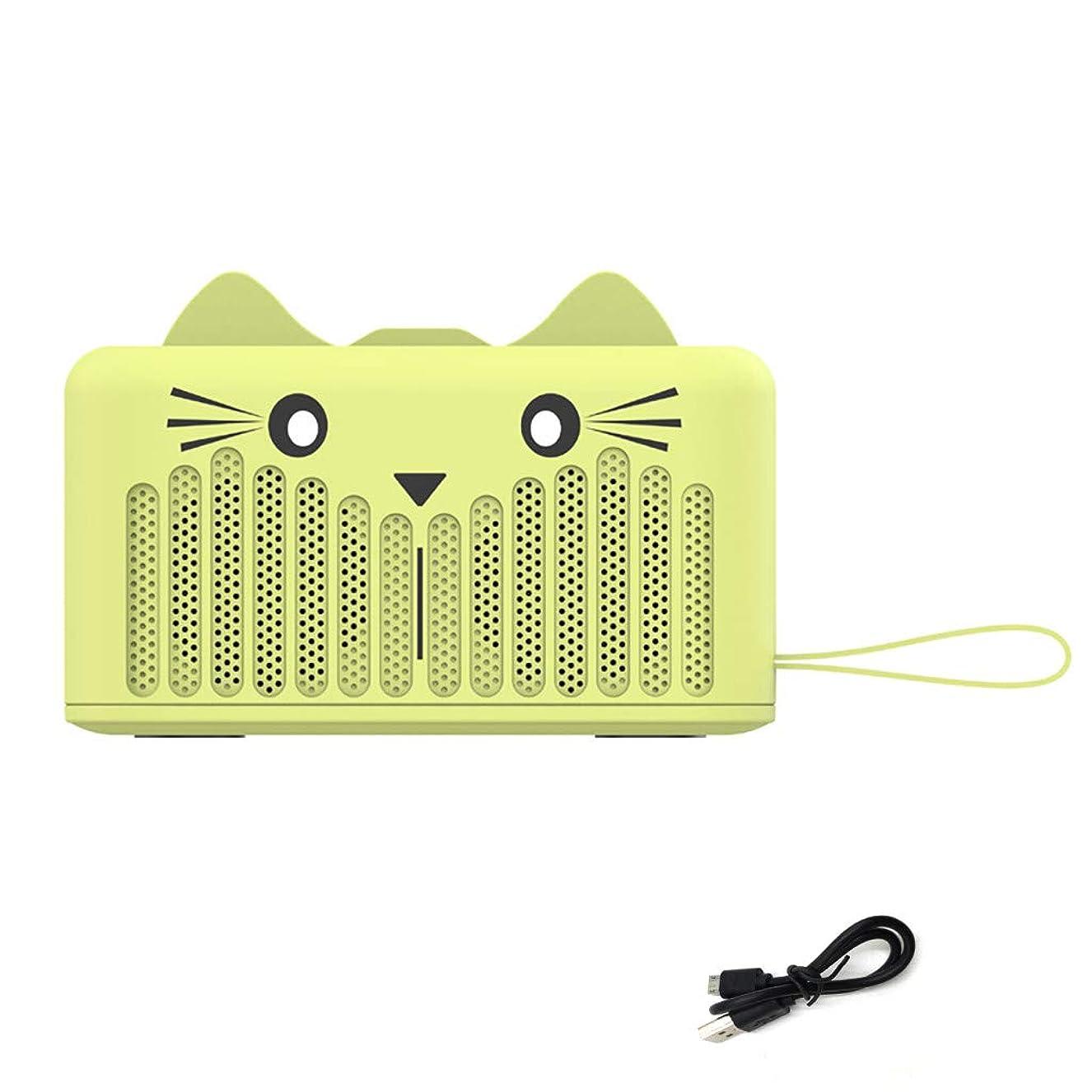 有毒な確率ミルクGuesthome Bluetoothスピーカー ミニ ワイヤレス ポータブル かわいい猫 高性能【超小型/コンパクト/HD高音質/重低音モデル/車載、旅行、風呂用/长時間連続再生/SDカード & FMラジオ対応/PC、スマートフォン用】SG-05B