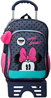 Sweet Dreams Minnie Mochila Escolar con Carro, 40 cm, color Azul