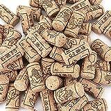50 piezas de corchos de vino Natural Corcho de Botella Tapones de Corcho Cónicos Corchos de vino reutilizables para botella de cerveza de vino, botellas de vidrio, artesanía de bricolaje(21*40mm)