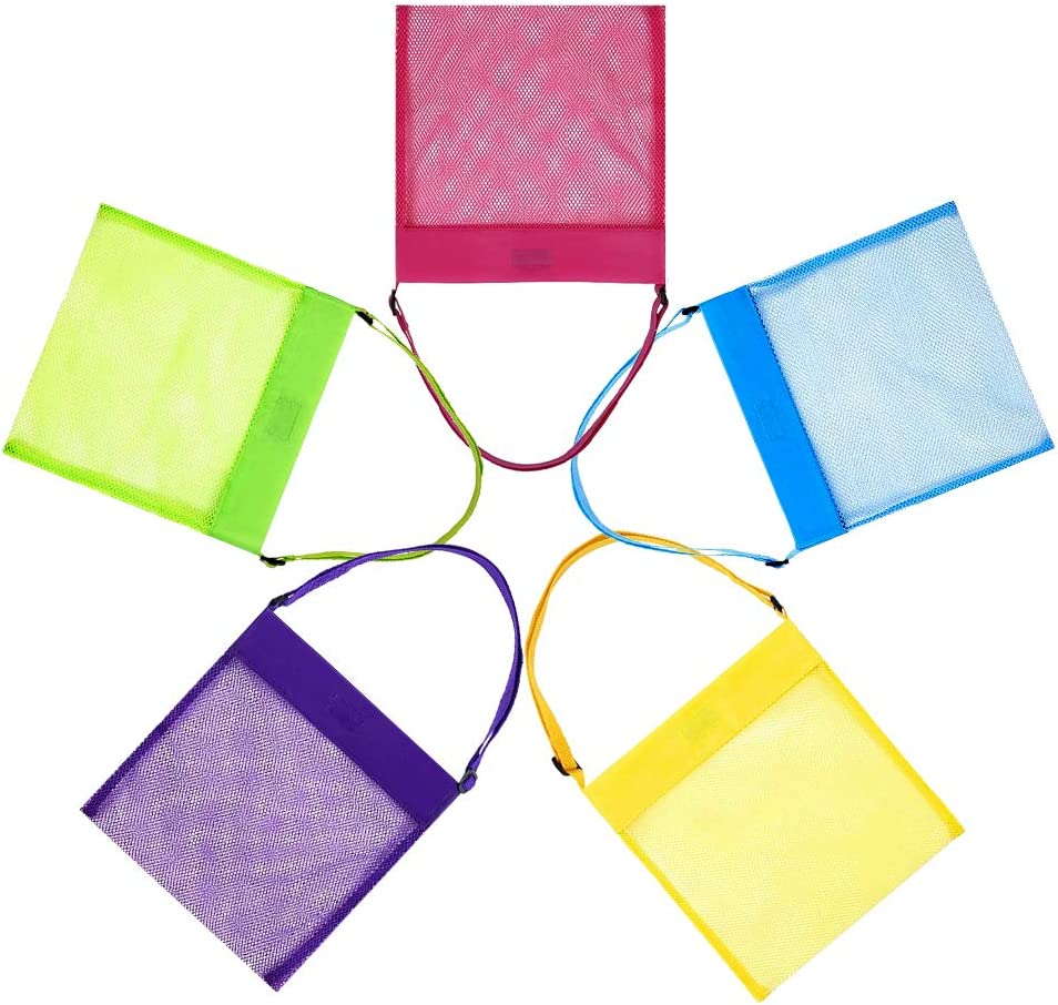 5 Pack Mesh Beach Bags Shell T Be super New product!! welcome for Seashell kids