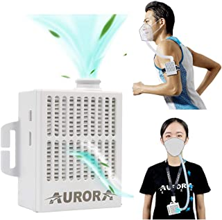 4WDKING Portable Air Purifier with 12 Pcs Replacement 5-Ply, Rechargeable Reusable Wearable Personal Electrical Air Purifying with HEPA Filter